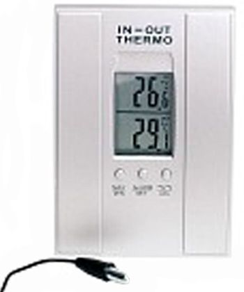 digital innen au enthermometer mit au enf hler minmax. Black Bedroom Furniture Sets. Home Design Ideas