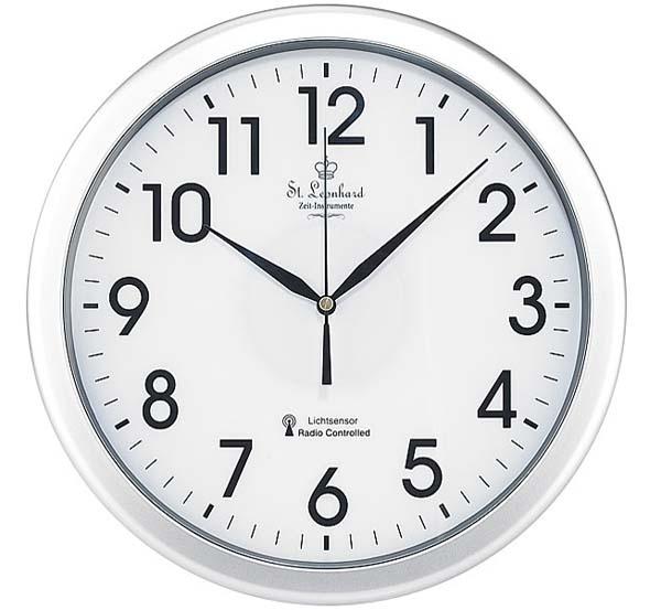 Bahnhofsuhr funk wanduhr mit zifferblatt beleuchtung funkuhr beleuchtet kabellos ebay for Horloge lumineuse